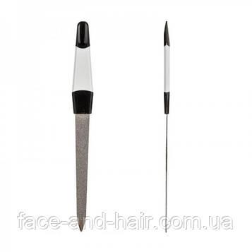 Пилка для ногтей Zinger с цветной ручкой, средняя
