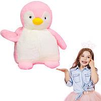 Іграшка-подушка Пінгвін з пледом 3 в 1 Блакитний