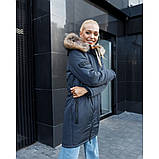 Зимняя куртка женская с мехом размер 50-52. Зимняя парка, фото 3