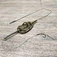 "Рыболовная кормушка на карпа в сборе ""Distance Method Flat L 75"" , вес 50 грамм"
