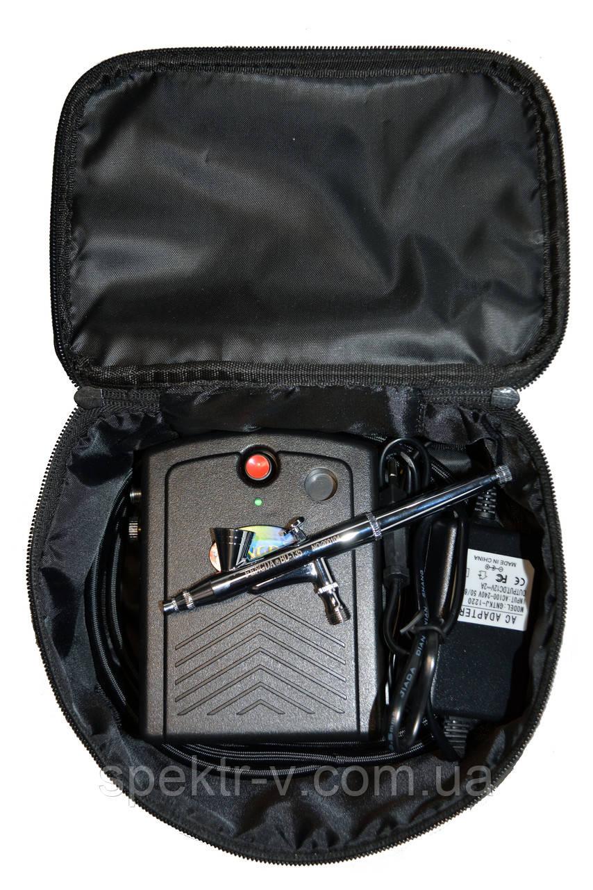 Набор для аэрографии на ногтях (airbrush nail set) в кейсе