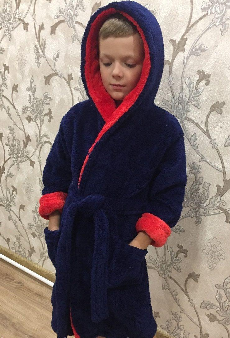 Махровый халат для мальчика подростка 6-14 лет,халат для мальчиков подростков 6-14 лет,халаты для подростков