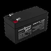 Аккумулятор кислотный AGM LogicPower LP 12 - 1,3 AH, фото 1
