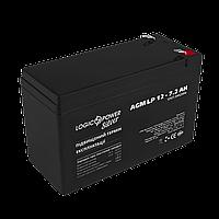 Аккумулятор кислотный AGM LogicPower LP 12 - 7,2 AH, фото 1
