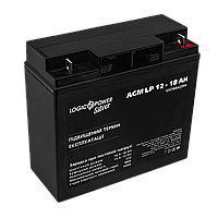Аккумулятор кислотный AGM LogicPower LPM 12 - 18 AH, фото 1