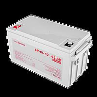 Аккумулятор гелевый  LP-GL 12 - 65 AH SILVER, фото 1