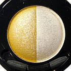 Тени для Век Meis MS 0102 Двухцветные Компактные с Аппликатором Тон 03 Цвета Белый, Желтый Макияж Глаз, фото 3