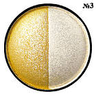 Тени для Век Meis MS 0102 Двухцветные Компактные с Аппликатором Тон 03 Цвета Белый, Желтый Макияж Глаз, фото 4
