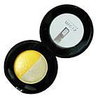 Тени для Век Meis MS 0102 Двухцветные Компактные с Аппликатором Тон 03 Цвета Белый, Желтый Макияж Глаз, фото 6