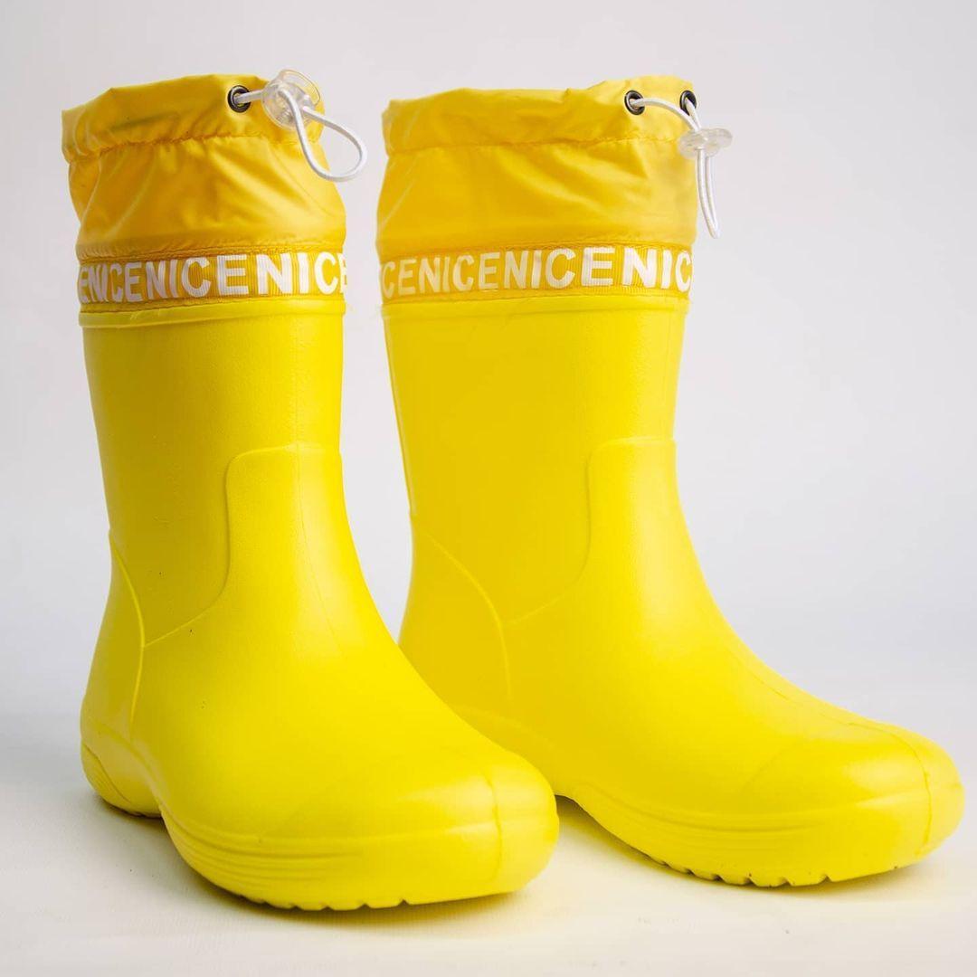 Жёлтые сапоги из пены с утяжкой р-ры 36, 37, 38, 39, 40, 41 Резиновые сапоги