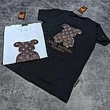 Мужская футболка Louis Vuitton CK1592 черная, фото 2