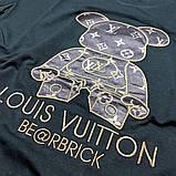 Мужская футболка Louis Vuitton CK1592 черная, фото 3