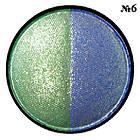 Тени для Век Meis MS 0102 Двухцветные Компактные с Аппликатором Тон 06 Цвета Зеленый, Синий Макияж Глаз, фото 4