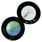 Тени для Век Meis MS 0102 Двухцветные Компактные с Аппликатором Тон 06 Цвета Зеленый, Синий Макияж Глаз, фото 6