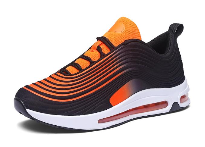Кроссовки в стиле Nike Air Max 97 оранжевые