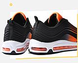Кроссовки в стиле Nike Air Max 97 оранжевые, фото 4