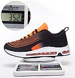 Кроссовки в стиле Nike Air Max 97 оранжевые, фото 5
