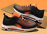 Кроссовки в стиле Nike Air Max 97 оранжевые, фото 6