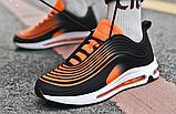Кроссовки в стиле Nike Air Max 97 оранжевые, фото 8