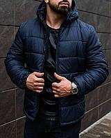 Мужские зимние куртки 2 цвета черный,синий НА ЧЕРНУЮ РАЗМЕР ТОЛЬКО XL