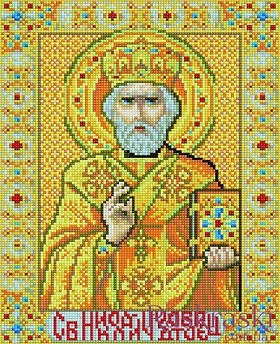 Алмазная вышивка Икона Николай Чудотворец 30 х 40 (EJ372, На подрамнике) Rainbow Art