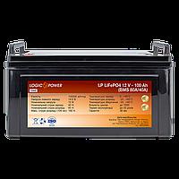 Аккумулятор LP LiFePO4 12 V - 100 Ah (BMS 80A/40А) пластик