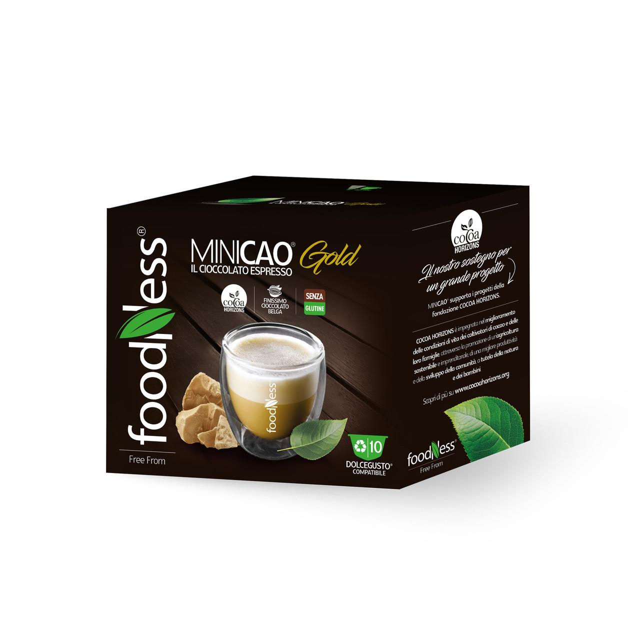Шоколад в капсулах FoodNess Dolce Gusto Minicao Gold The Cocoa Espresso 10 шт. (Фуднес Дольче Густо), Италия