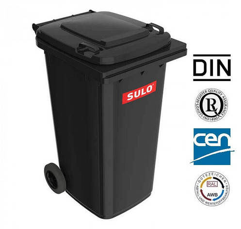 Контейнер для сміття 120 чорний SULO EN-840-1/120Л., фото 2