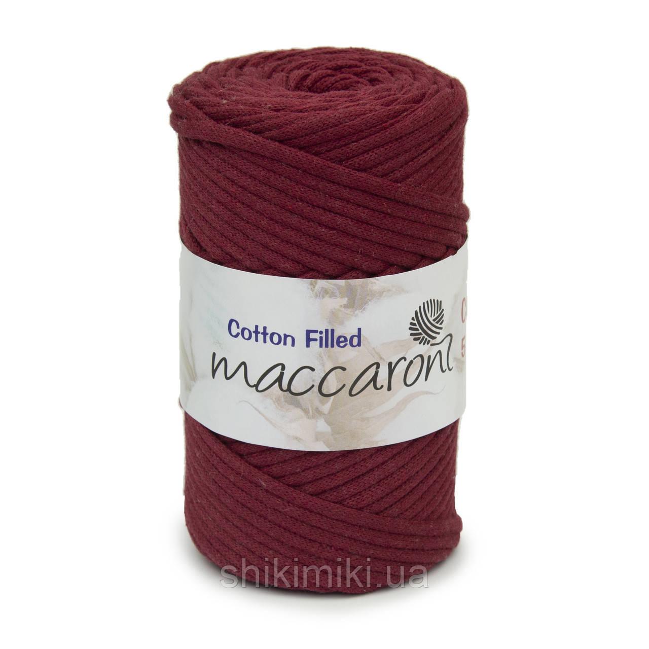 Трикотажный хлопковый шнур Cotton Filled 5 мм, цвет Бордовый