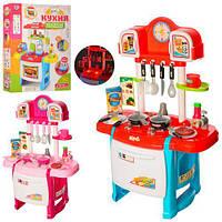 Кухня WD-P19-R19 плита, духовка, посуд, продукти, 2 види, муз., світло, бат., кор., 43,5-60-9,5 см.