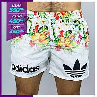 Мужские шорты пляжные Adidas белый. Чоловічі шорти пляжні Adidas бiлий