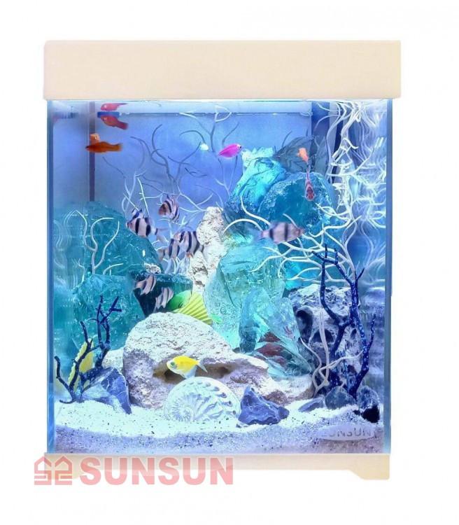 Акваріум з кришкою SunSun AT 250D 15 л