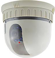 Купольная камера видеонаблюдения поворотная STK-601P DC-5.5 CCD 600TLV PAL White