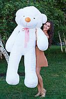 Большой медведь тедди 200 см белый