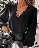 Блузка женская белая, чёрная, 42-46, 48-52, фото 5