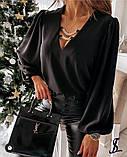 Блузка женская белая, чёрная, 42-46, 48-52, фото 3