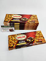Шоколад Valor Puro (Чорний з мигдалем)