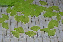 Листок салатовый матовый.  18 x11 мм