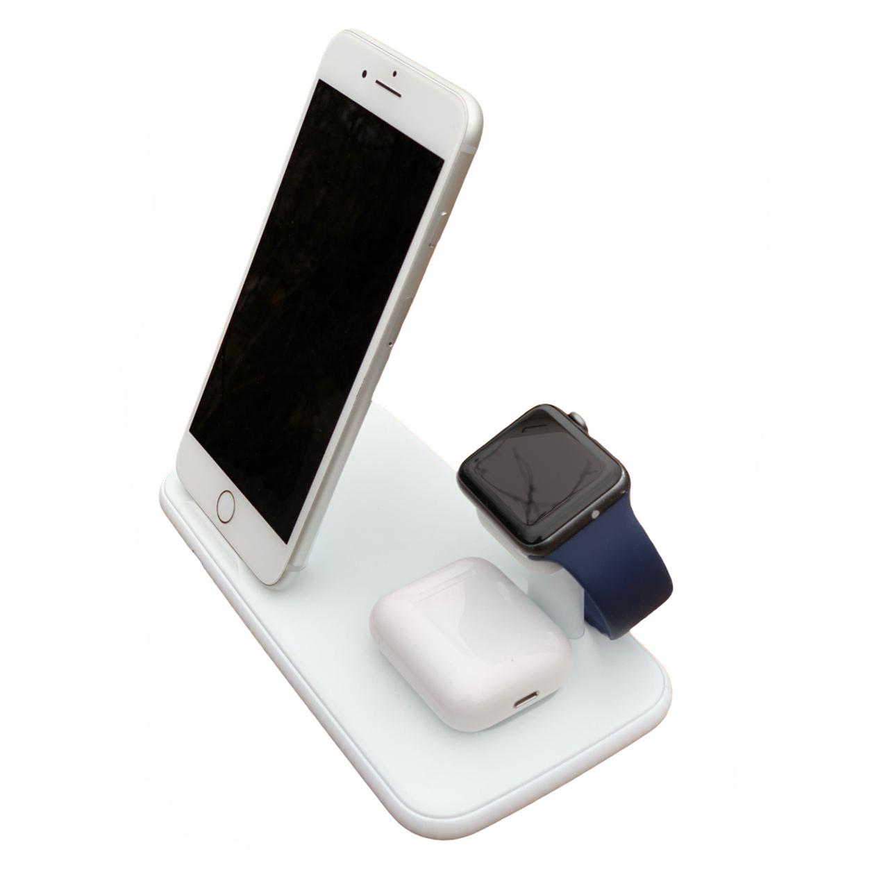 Беспроводное зарядное устройство 3 в 1 iPhone+Apple Watch+AirPods