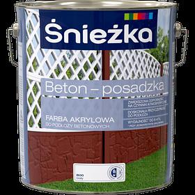 Краска для бетона акриловая Sniezka BETON-POSADZKA БЕЛЫЙ В00 10л PL