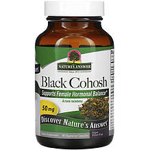 """Клопогон кистевидный Nature's Answer """"Black Cohosh"""" поддержка при менопаузе, 50 мг (90 капсул)"""