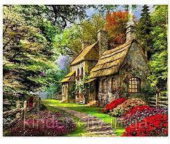 Картина по номерам  Дом в лесу PH9267 40*50см