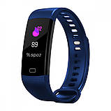 Смарт Фитнес-браслет Bluetooth HAVIT HV-H1108A, Red, Blue, фото 2