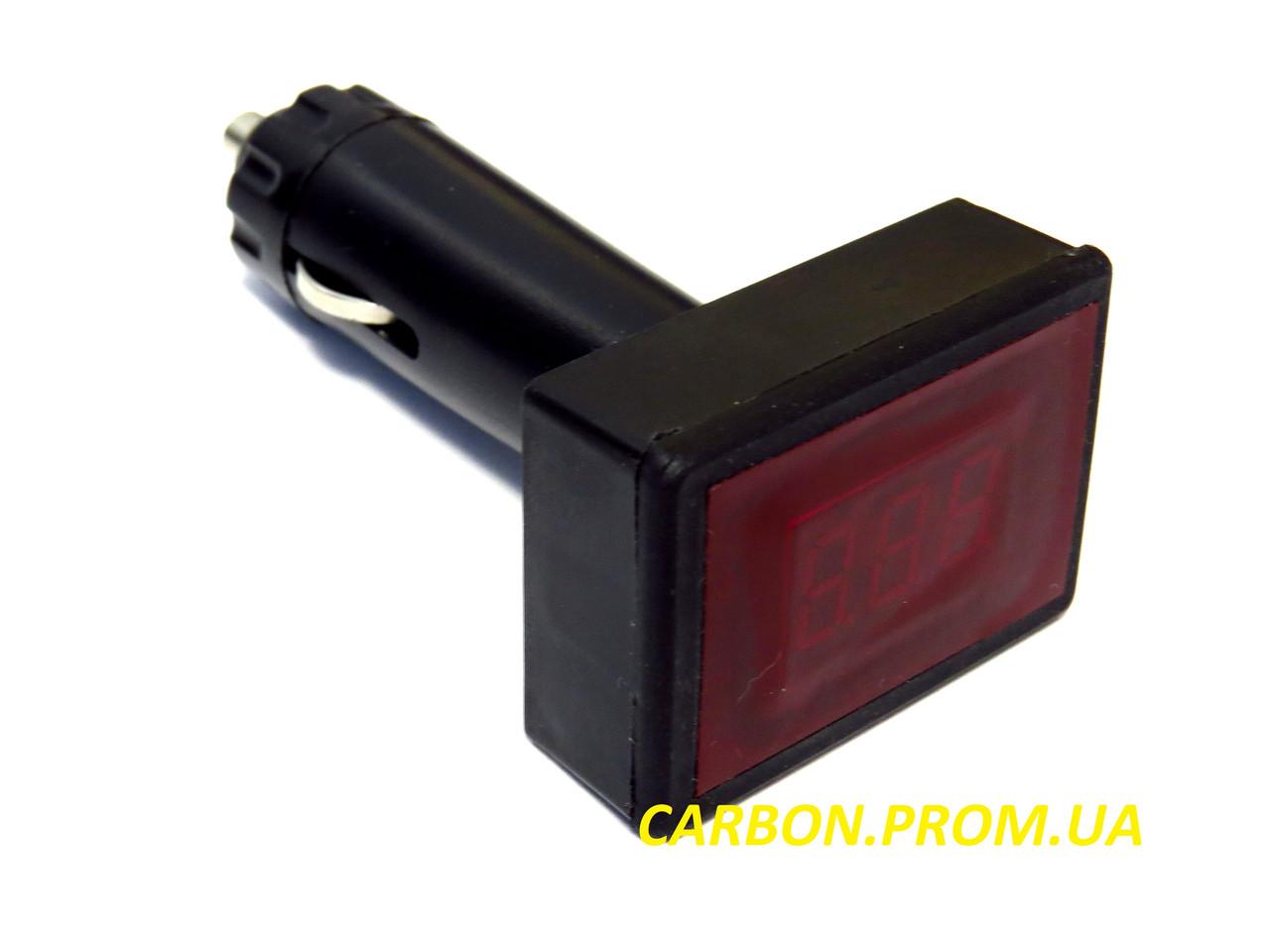 Вольтметр автомобильный цифровой 12В-24В в прикуриватель АПрИ