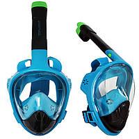 Маска для снорклинга (плавания) SportVida SV-DN0022 Size L/XL Black/Blue