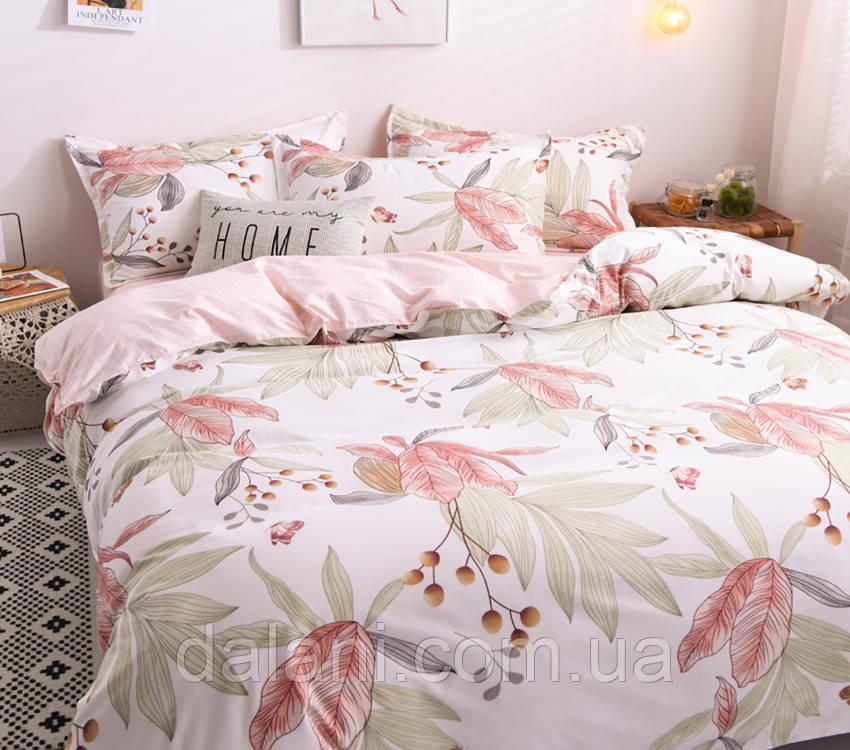 Семейный комплект постельного белья из сатина (с двумя пододеяльниками)