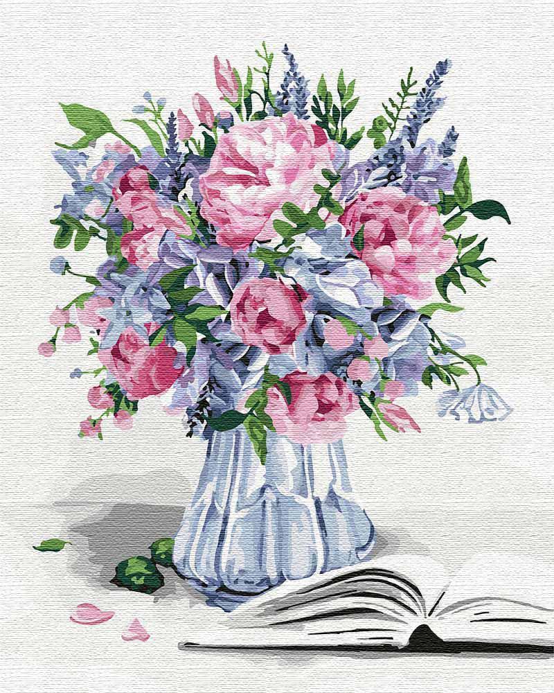 Картина рисование по номерам Идейка Букет вдохновения KHO3100 40х50 см Цветы, букеты, натюрморты набор для