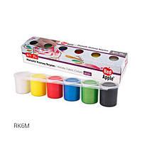 "Краски для рисования по ткани ""Металлик"", 6 цветов RK6M"