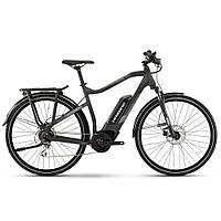 "Электровелосипед Haibike SDURO Trekking 1.0 men 400Wh 8 s. Acera 28"", рама L, черный-титан-серо-матовый, 2020"