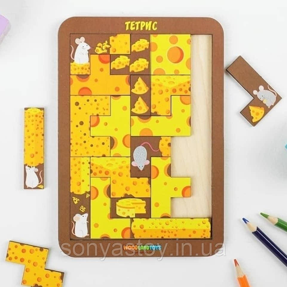 """Игра Тетрис """"Сырный рай"""" - развивающая игра для логического мышления, 3+"""